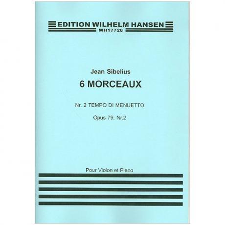 Sibelius, J.: Aus »6 Morceaux« Nr. 2 Tempo di Menuetto Op. 79/2 (1917)