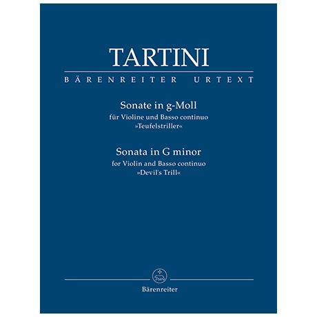 Tartini, G.: Violinsonate g-Moll »Teufelstriller«
