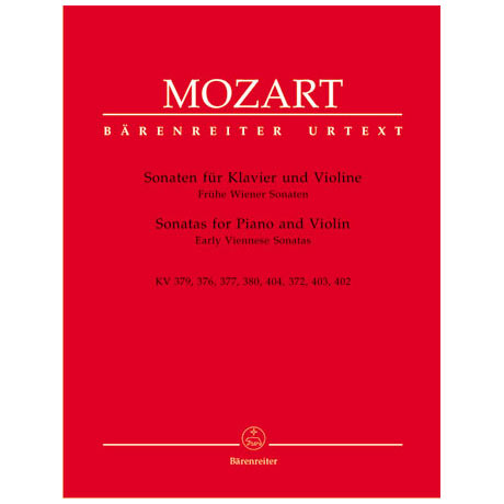 Mozart, W. A.: Frühe Wiener Violinsonaten