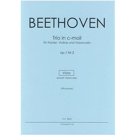 Beethoven, L. v.: Trio für Violine, Viola und Klavier Op. 1/3 c-Moll – Violastimme