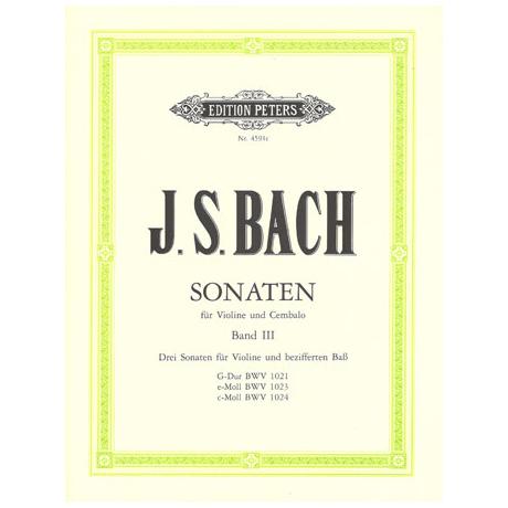 Bach, J. S.: Violinsonaten BWV 1021-1024