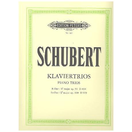 Schubert, F.: Klaviertrio B-Dur op. 99, Es-Dur op. 100