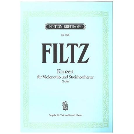 Filtz, A.: Konzert G-Dur für Violoncello, Streichorchester und Basso continuo