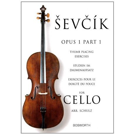 Sevcik, O.: Studien im Daumenaufsatz für Cello op. 1 Heft 1