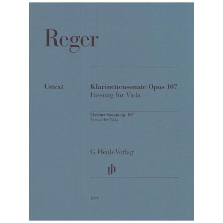 Reger, M.: Klarinettensonate Op. 107 - Fassung für Viola