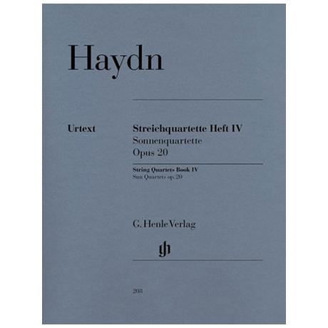 Haydn, J.: Streichquartette Heft 4: Op. 20/1-6 (Sonnenquartette) Urtext