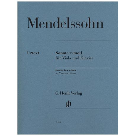 Mendelssohn Bartholdy, F.: Sonate c-Moll