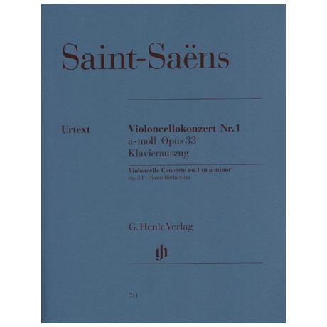 Saint-Saens, C.: Violoncellokonzert Nr. Op. 33 1 a-Moll Urtext
