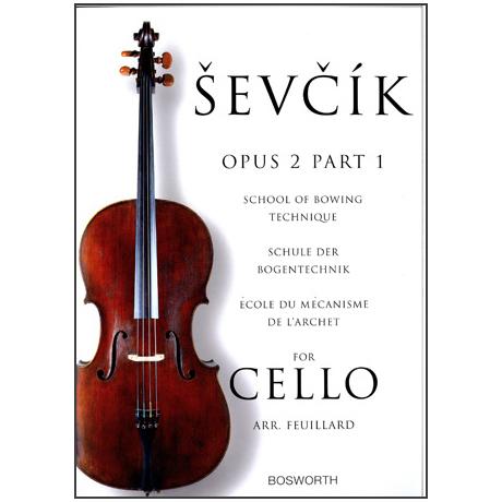 Sevcik, O.: Schule der Bogentechnik für Cello op. 2 Heft 1