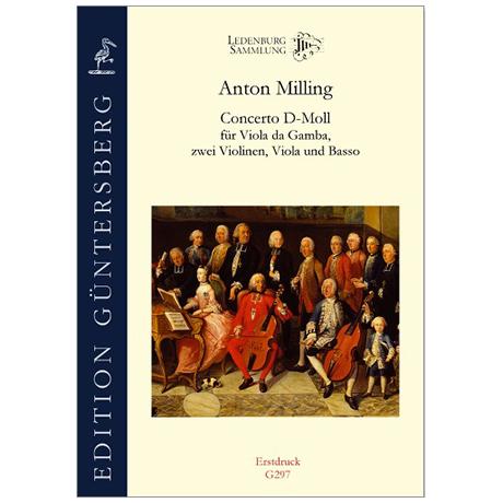 Milling, A: Gambenkonzert d-Moll
