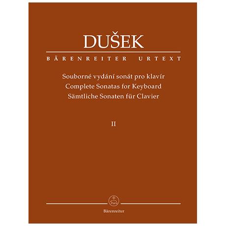 Dušek, F. X.: Sämtliche Sonaten für Clavier Band 2