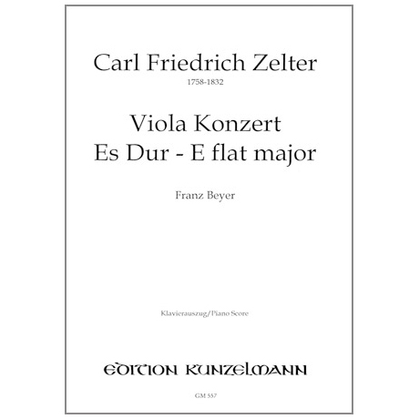 Zelter, K. F.: Violakonzert Es-Dur