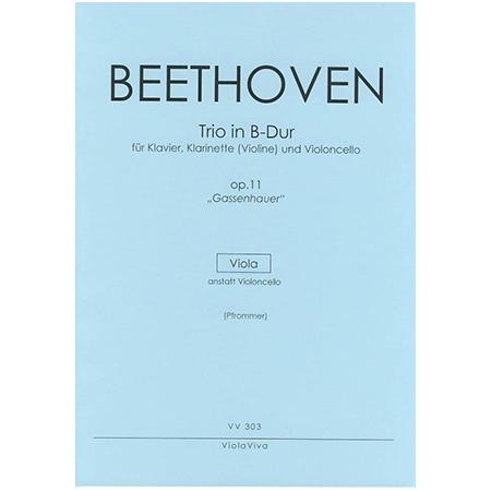 Beethoven, L. v.: Trio für Klarinette (Violine), Viola und Klavier Op. 11 B-Dur – Violastimme