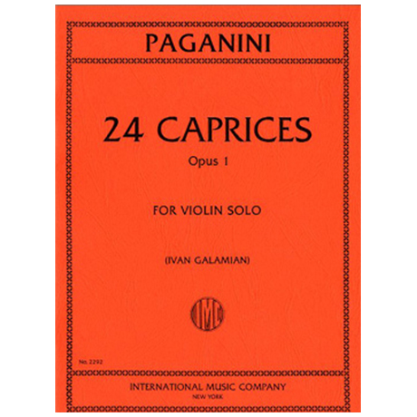Paganini, N.: 24 Caprices Op. 1 (Galamian)