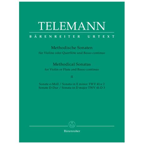 Telemann, G.P.: Methodische Sonaten - Band 2