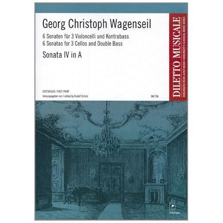 Wagenseil, G.C.: 6 Sonaten Band 4 Nr.4 A-Dur