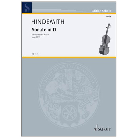 Hindemith, P.: Violinsonate Op. 11/2 D-Dur