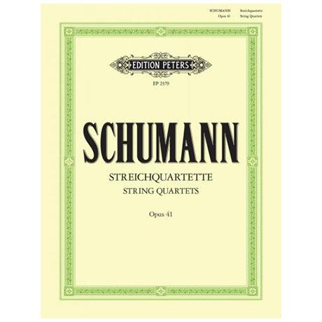 Schumann, R.: Streichquartette op. 41/1-3