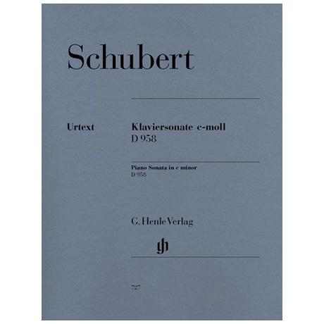 Schubert, F.: Klaviersonate c-Moll D 958