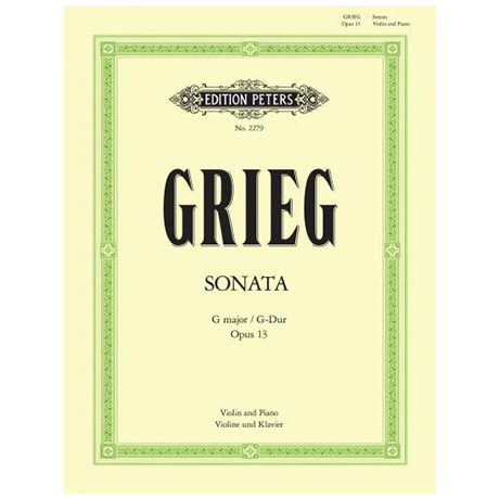 Grieg, E.: Sonate Nr. 2 G-Dur, op. 13