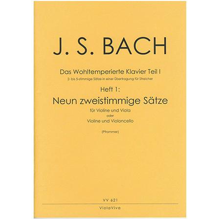 Bach, J. S.: 9 zweistimmige Sätze aus dem Wohltemperierten Klavier Teil I