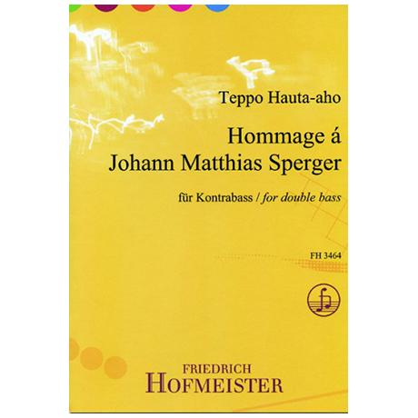 Hauta-Aho, T.: Hommage à Johann Matthas Sperger