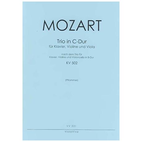 Mozart, W. A.: Trio für Klavier, Violine und Viola C-Dur nach KV 502