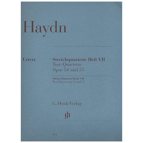 Haydn, J.: Streichquartette Band 7 (Trost-Quartette Op. 54 & 55)