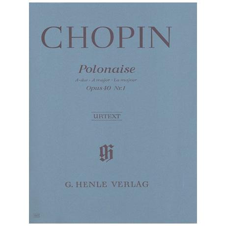Chopin, F.: Polonaise A-Dur Op. 40,1 (Militaire)