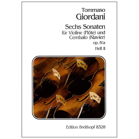 Giordani, T.: 6 Violinsonaten Op. 4a Band 2 (Nr. 4-6)
