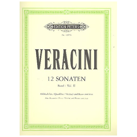 Veracini, F.M.: 12 Sonaten Band 2