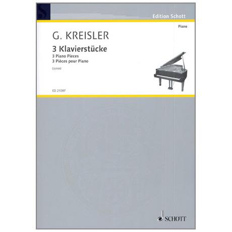 Kreisler, G.: 3 Klavierstücke