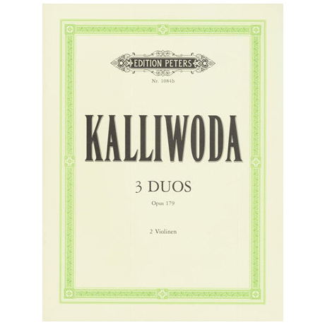 Kalliwoda, J. W.: 3 progressive Duette Band 1 Op. 179