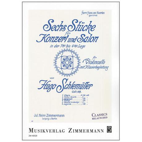 Schlemüller, H.: Serenade Op. 18 Nr. 3, aus »6 Stücke für Konzert und Salon in der 1. bis 4. Lage«