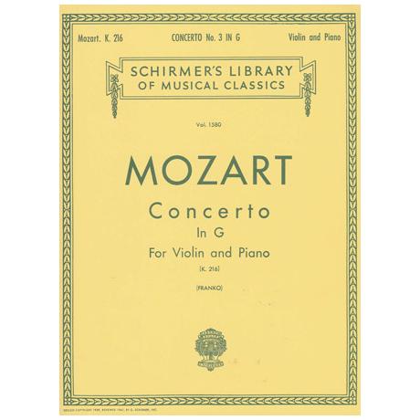 Mozart, W.A.: Concerto No. 3 in G, K.216