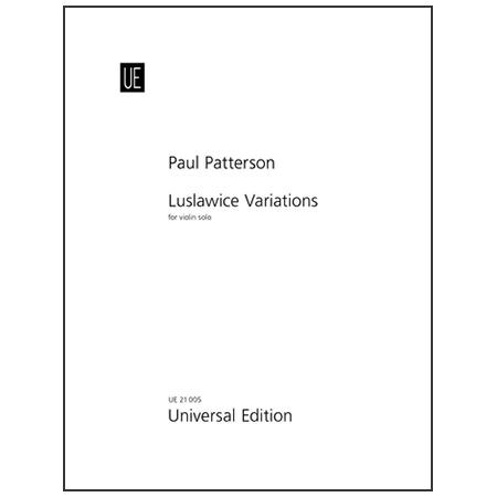 Patterson, P.: Luslawice Variations Op. 50