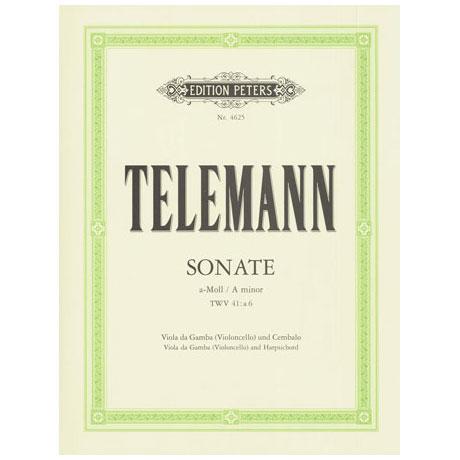 Telemann, G. Ph.: Violasonate TWV41:A6 a-Moll