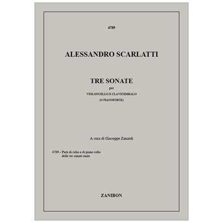 Scarlatti, A.: 3 Violoncellosonaten
