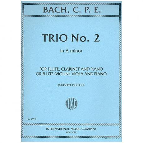 Bach, C. Ph. E.: Klaviertrio Nr. 2 a-Moll