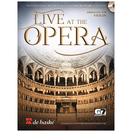 Live at the Opera for Violin (+CD)