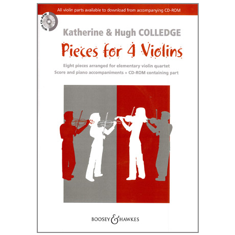 Colledge, K. & H.: Pieces for 4 Violins (+CD)