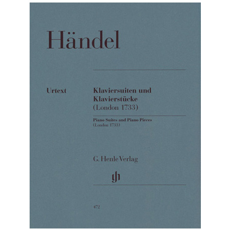 Händel, G. F.: Klaviersuiten und Klavierstücke (London 1733)