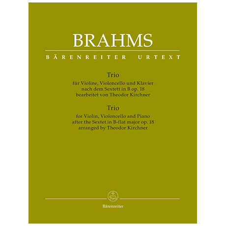 Brahms, J.: Klaviertrio B-Dur nach dem Sextett Op. 18