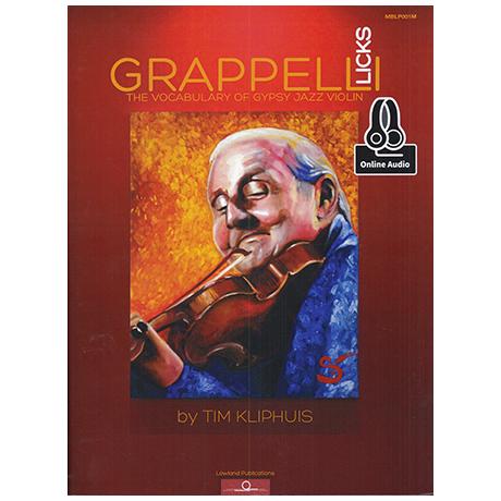Kliphuis, T.: Grappelli Licks – The Vocabulary of Gypsy Jazz Violin (+Online Audio)