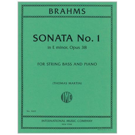 Brahms, J.: Kontrabasssonate Op. 38 e-Moll