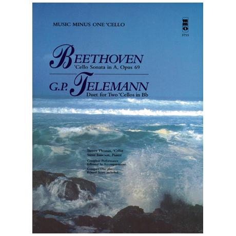 Beethoven, L. v.: Violoncellosonate Op. 69 A-Dur & Telemann, G. Ph.: Duett in B-Dur (+CD)
