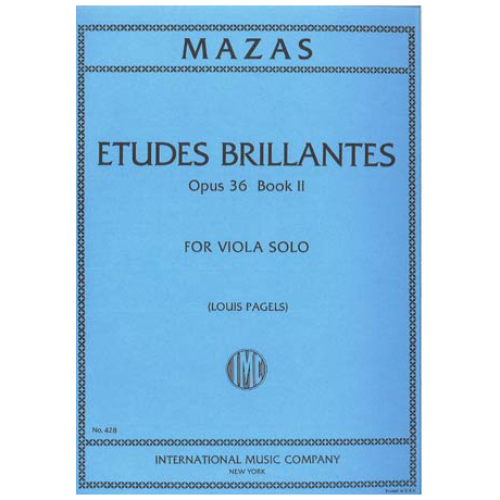 Mazas, J.: Etudes Brillantes Op. 36 Band 2