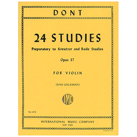 Dont, J.: 24 Studies Op. 37 (Galamian)