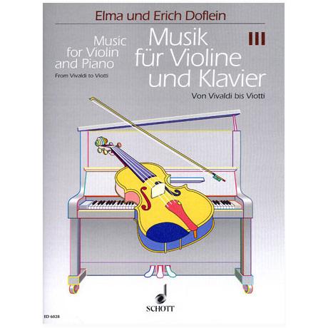 Musik für Violine und Klavier - Violoncellostimme zu Band 3