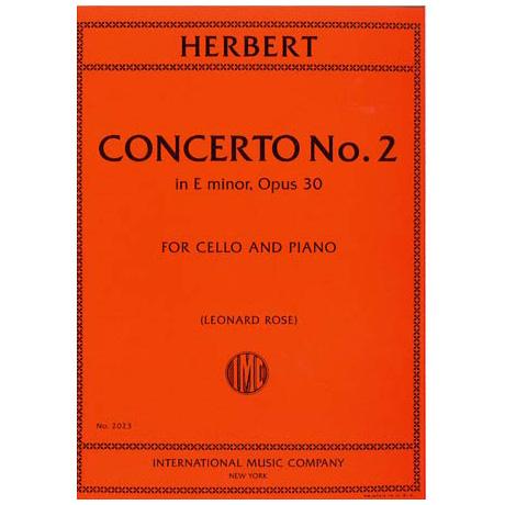 Herbert, V.: Violoncellokonzert Nr. 2 Op. 30 e-Moll